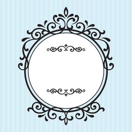 Uitstekende frames ontwerp op blauwe streep achtergrond Stock Illustratie