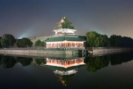 The Imperial Palace in Beijing turret photo