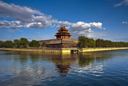 the forbidden city: Beijing 600-year-old buildings - Palace turret