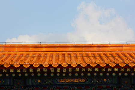 ancient chinese rooftop