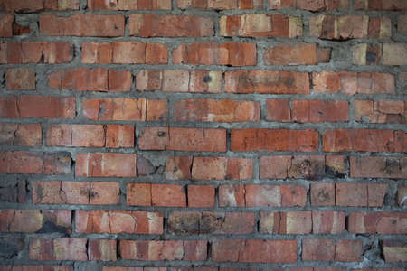 Brick abstract background for text. Empty space for copying. Wall of a red brick building Reklamní fotografie
