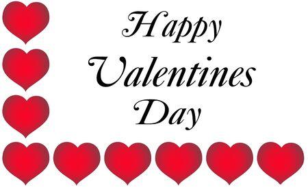 Valentine greeting illustration over white.