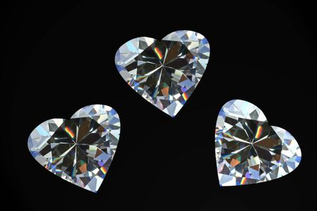 cz: Diamond Hearts Stock Photo