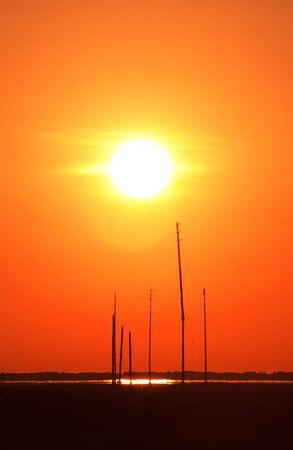 Sunrise over Barnegat Bay. Imagens