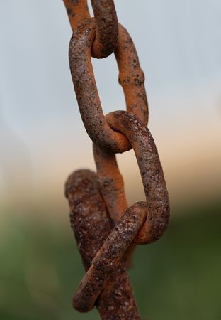 Old rusted chain links.