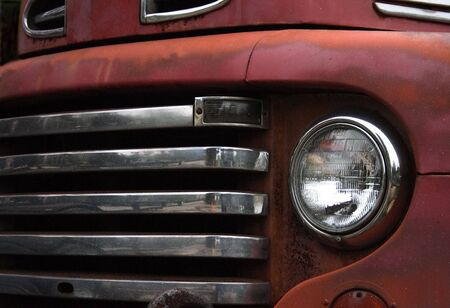 Front end of a vintage truck. Stock Photo