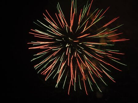 Colorful fireworks in a multicolor starburst pattern