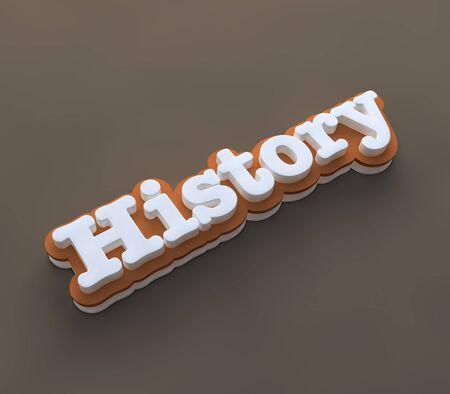 History 3D wording