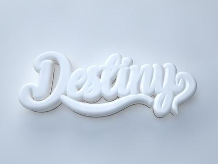 Destiny 3D white wording on white background