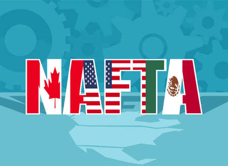 Colorful Flat Design Of Abbreviation For North American Free