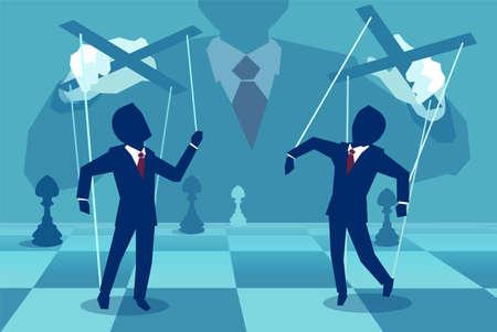 Illustration de concept de vecteur de personne manipulant des personnes dans les coulisses. Banque d'images - 99456507