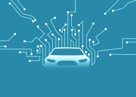 Smart electric transportation concept. Vector of a futuristic autonomous car. Ilustrace