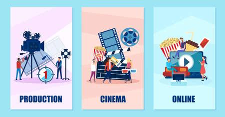 Vecteur d'une entreprise de production et de distribution de films et de vidéos