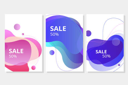 Vector of a modern sale banner with colorful template design Иллюстрация