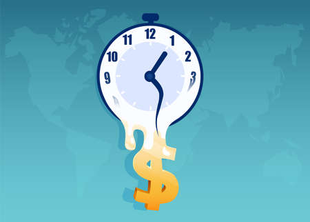 Time is money in global economy concept