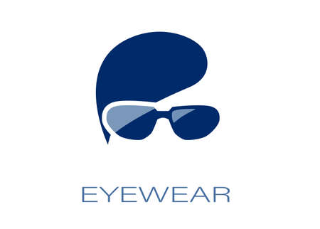 Vector of an eyeglasses eyewear logo concept