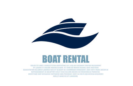 Vector of a stylish boat rental logo on white background