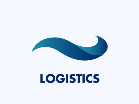 Vector banner of a logistics company on white background