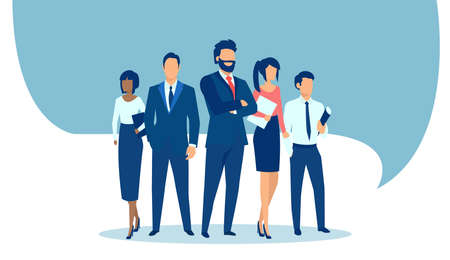 Vector of a group of confident business people Иллюстрация
