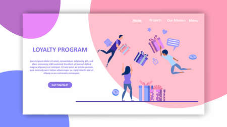 Promotion of online store and loyalty reward program concept