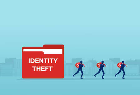 Identify theft and financial fraud concept
