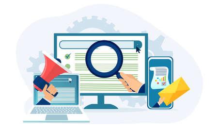 SEO marketing analytics and optimization concept