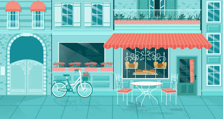 Vector of a cute coffee shop or a bakery