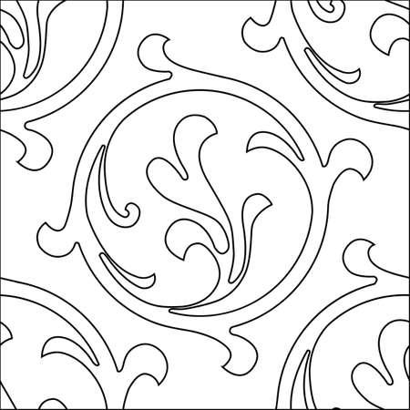 Vector hand-painted vintage baroque ornament. Stock Illustratie