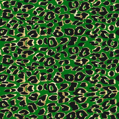Vector leopard  textured background. Animal print. Seamless pattern.