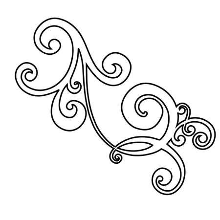 Acanthe de style antique de modèle rétro. Bordure ornementale. Ornement baroque vintage. Vecteurs