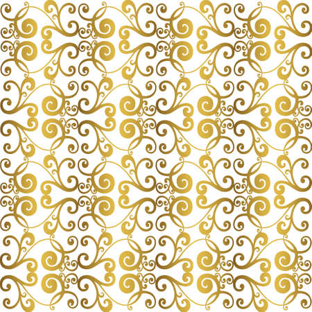 Acanto de estilo antiguo de patrón retro. Borde ornamental. Adorno barroco vintage. Ilustración de vector