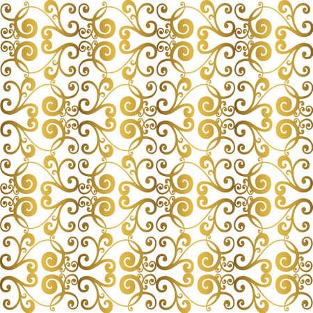 Retro-Muster im antiken Stil Akanthus. Ornamentale Grenze. Vintage barocke Ornament. Vektorgrafik