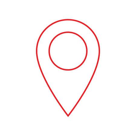 Map pins sign location icon. Vector mark symbol