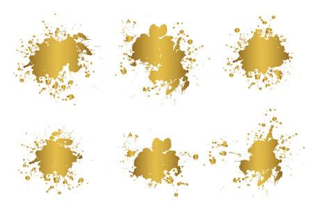 Grunge splatters. Abstract background. Grunge text banners. Color ink splashes. Foto de archivo - 134224300
