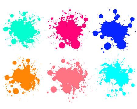 Grunge splatters. Abstract background. Grunge text banners. Color ink splashes. Foto de archivo - 134224304