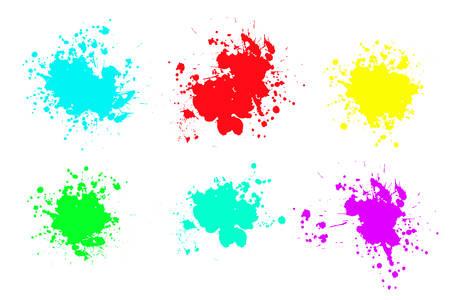 Grunge splatters. Abstract background. Grunge text banners. Color ink splashes. Foto de archivo - 134224309