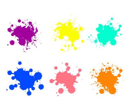 Grunge splatters. Abstract background. Grunge text banners. Color ink splashes. Foto de archivo - 134224319