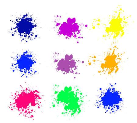 Grunge splatters. Abstract background. Grunge text banners. Color ink splashes. Foto de archivo - 134224357