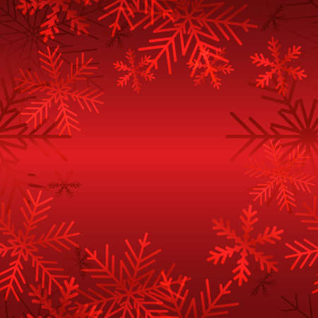 Christmas background with snowflakes and empty space for text.