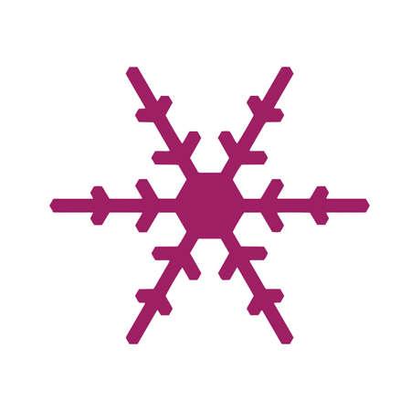 Vector snowflake icon. Vector illustration for web Illusztráció