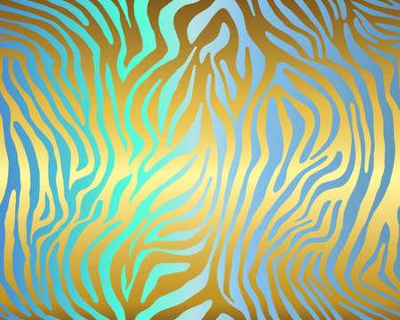 Vector animal print. Zebra ornament. Seamless pattern Illusztráció