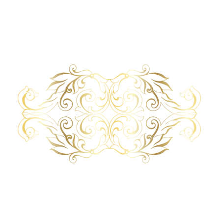 Vector hand-painted vintage baroque ornament. Retro pattern antique style acanthus