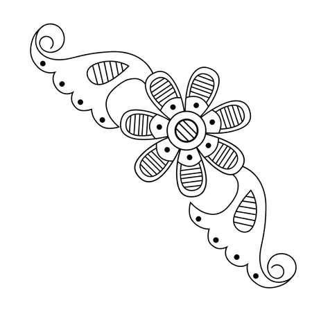 Vector  vintage baroque ornament. Retro pattern antique style acanthus Stock Illustratie