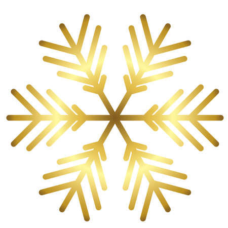 Vector snowflake icon isolated. illustration for web