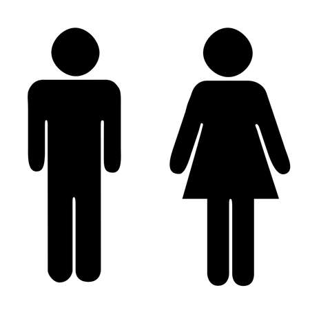 Toilets Icon Unisex. Vector man woman icons. WC sign icon. Toilet symbol Векторная Иллюстрация