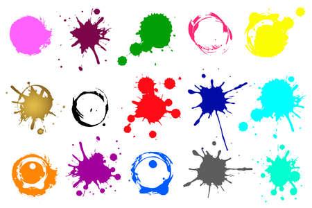 Ink splashes. Grunge splatters. Abstract background. Grunge text banners Ilustracje wektorowe