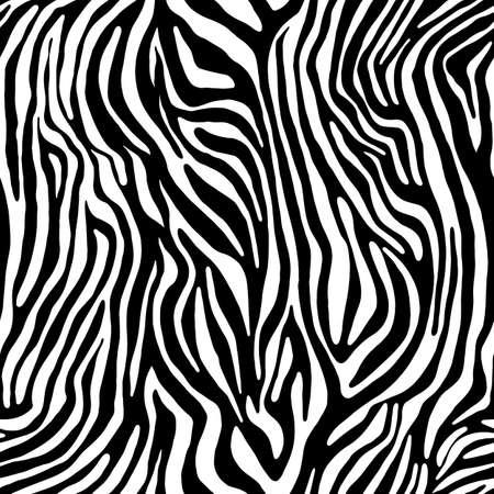 Vector animal print. Zebra ornament. Seamless pattern Векторная Иллюстрация