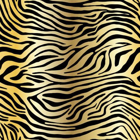 Vektor-Tierdruck. Zebra-Ornament. Nahtloses Muster Vektorgrafik