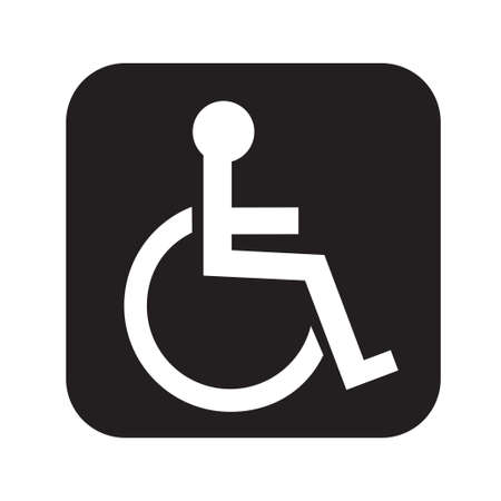 Disabled person vector icon isolated on white