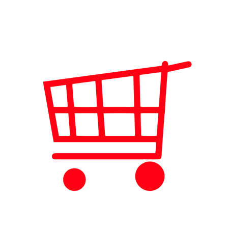 Vector icon of a shipping cart isolated on white